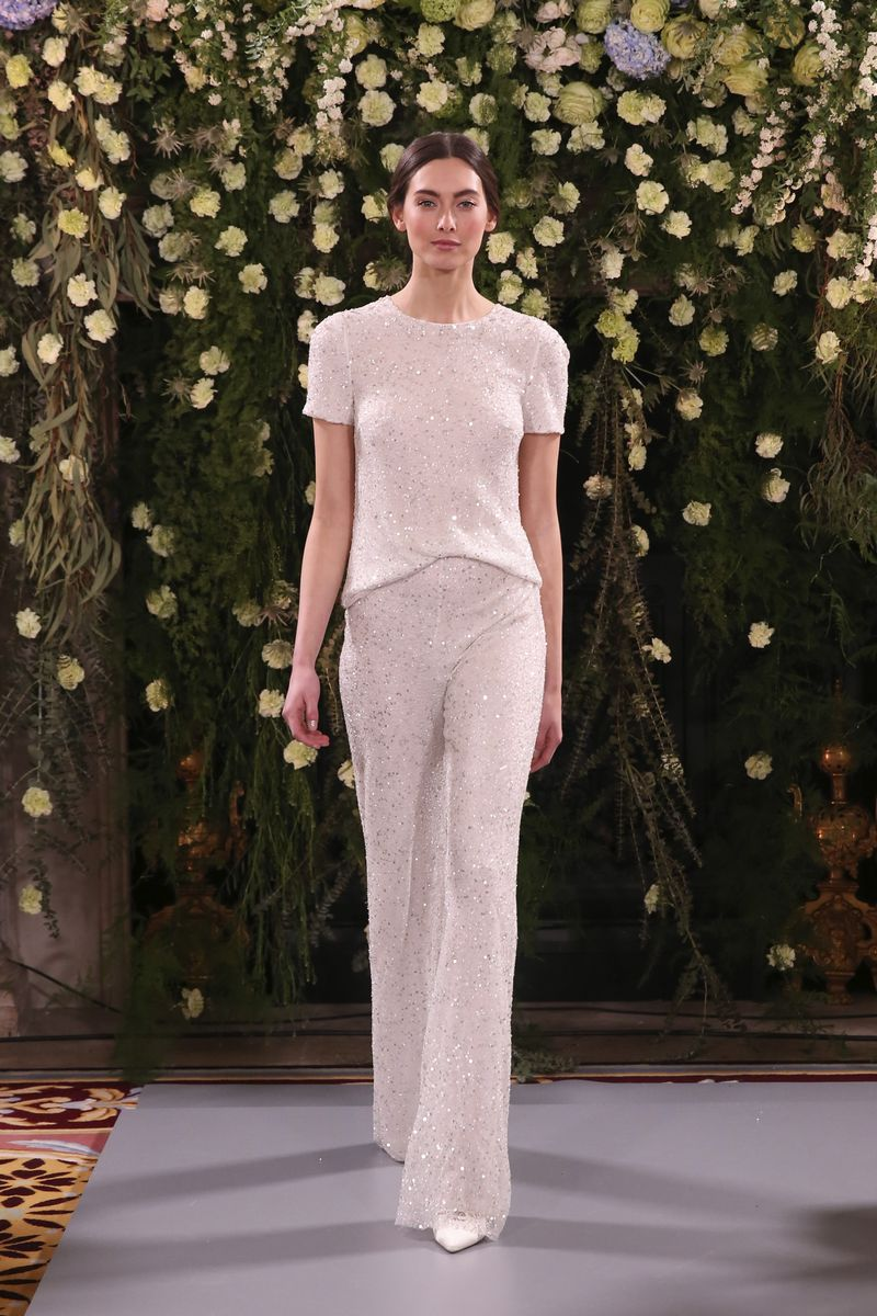 Flori Top with Fleur Trousers from the Jenny Packham 2019 Bridal Collection