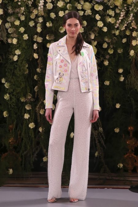 Forget Me Not Leather Jacket from the Jenny Packham 2019 Bridal Collection