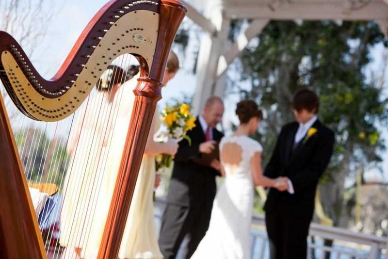 Harp in Wedding Ceremony