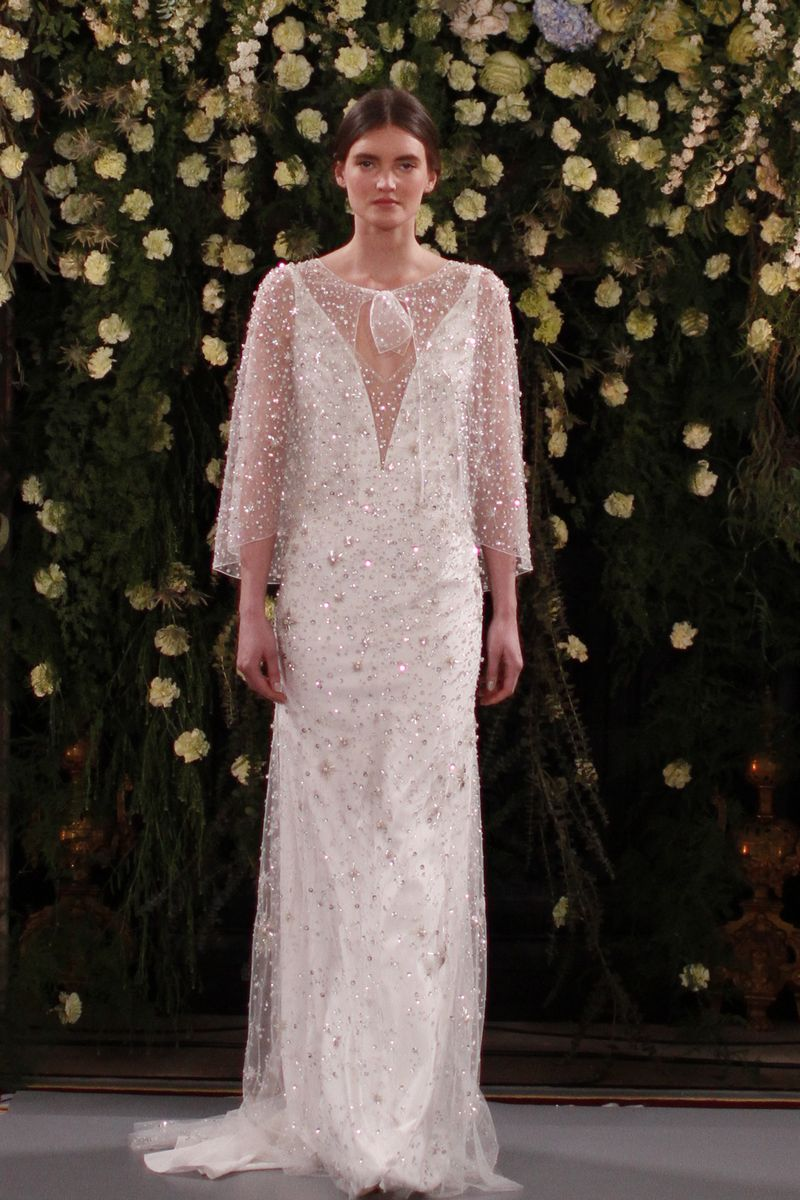 Moonflower Wedding Dress with Meadow Cape from the Jenny Packham 2019 Bridal Collection