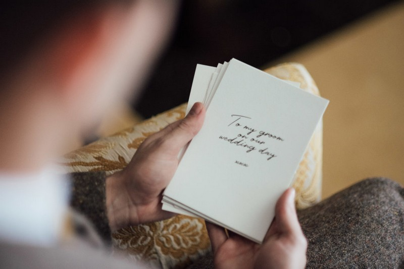 Love letter from bride to groom