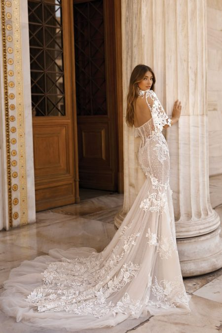 Back of 19-103 Wedding Dress from the BERTA Athens F/W 2019 Bridal Collection