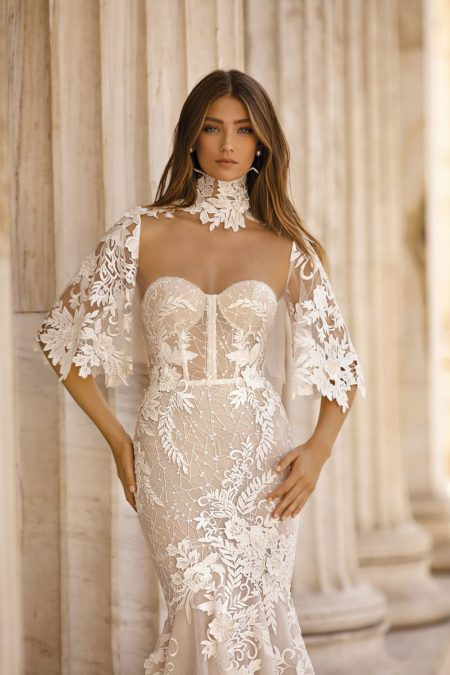Detail on 19-103 Wedding Dress from the BERTA Athens F/W 2019 Bridal Collection