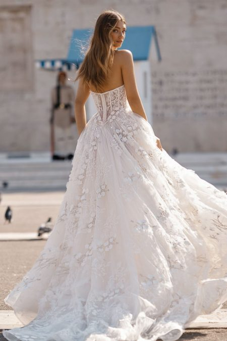 Back of 19-104 Wedding Dress from the BERTA Athens F/W 2019 Bridal Collection