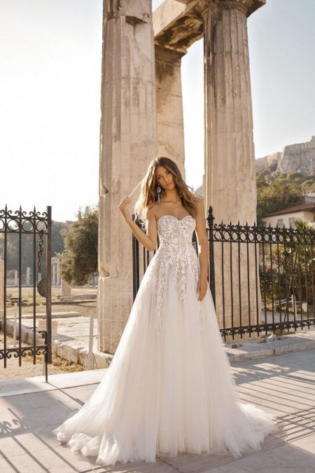 19-105 Wedding Dress from the BERTA Athens F/W 2019 Bridal Collection