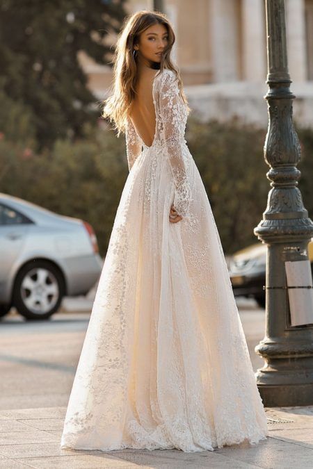 Back of 19-108 Wedding Dress from the BERTA Athens F/W 2019 Bridal Collection