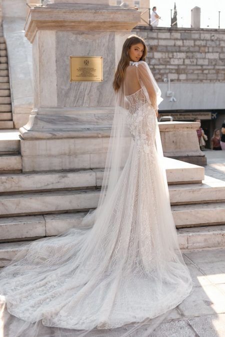 Back of 19-110 Wedding Dress from the BERTA Athens F/W 2019 Bridal Collection