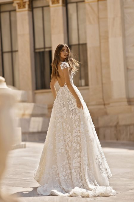 Back of 19-112 Wedding Dress from the BERTA Athens F/W 2019 Bridal Collection