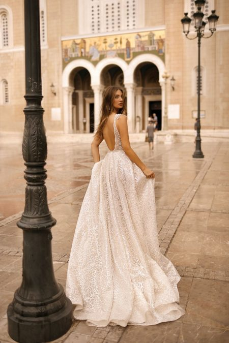 Back of 19-113 Wedding Dress from the BERTA Athens F/W 2019 Bridal Collection