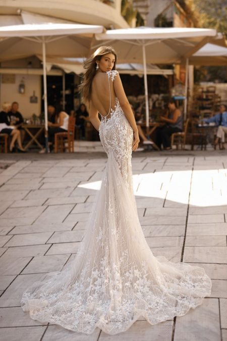 Back of 19-114 Wedding Dress from the BERTA Athens F/W 2019 Bridal Collection