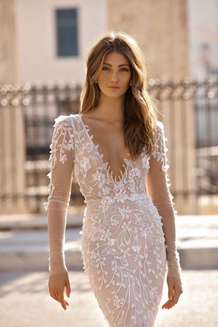 Detail on 19-117 Wedding Dress from the BERTA Athens F/W 2019 Bridal Collection