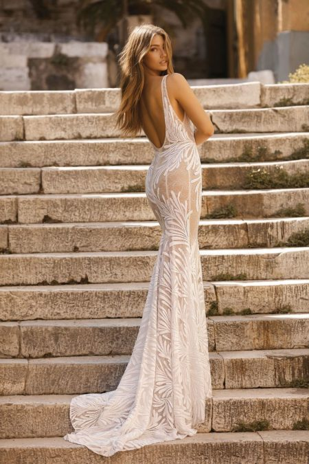 Back of 19-119 Wedding Dress from the BERTA Athens F/W 2019 Bridal Collection