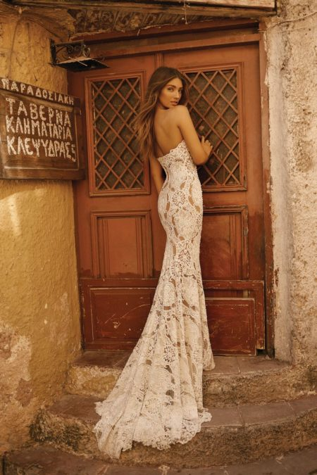 Back of 19-120 Wedding Dress from the BERTA Athens F/W 2019 Bridal Collection