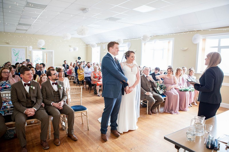 Wedding ceremony in Cuddystone Hall