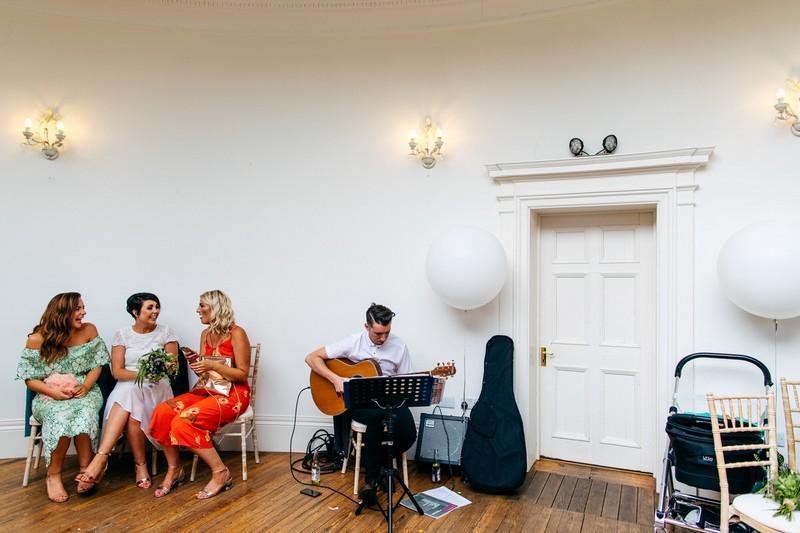 Guitarist playing at wedding