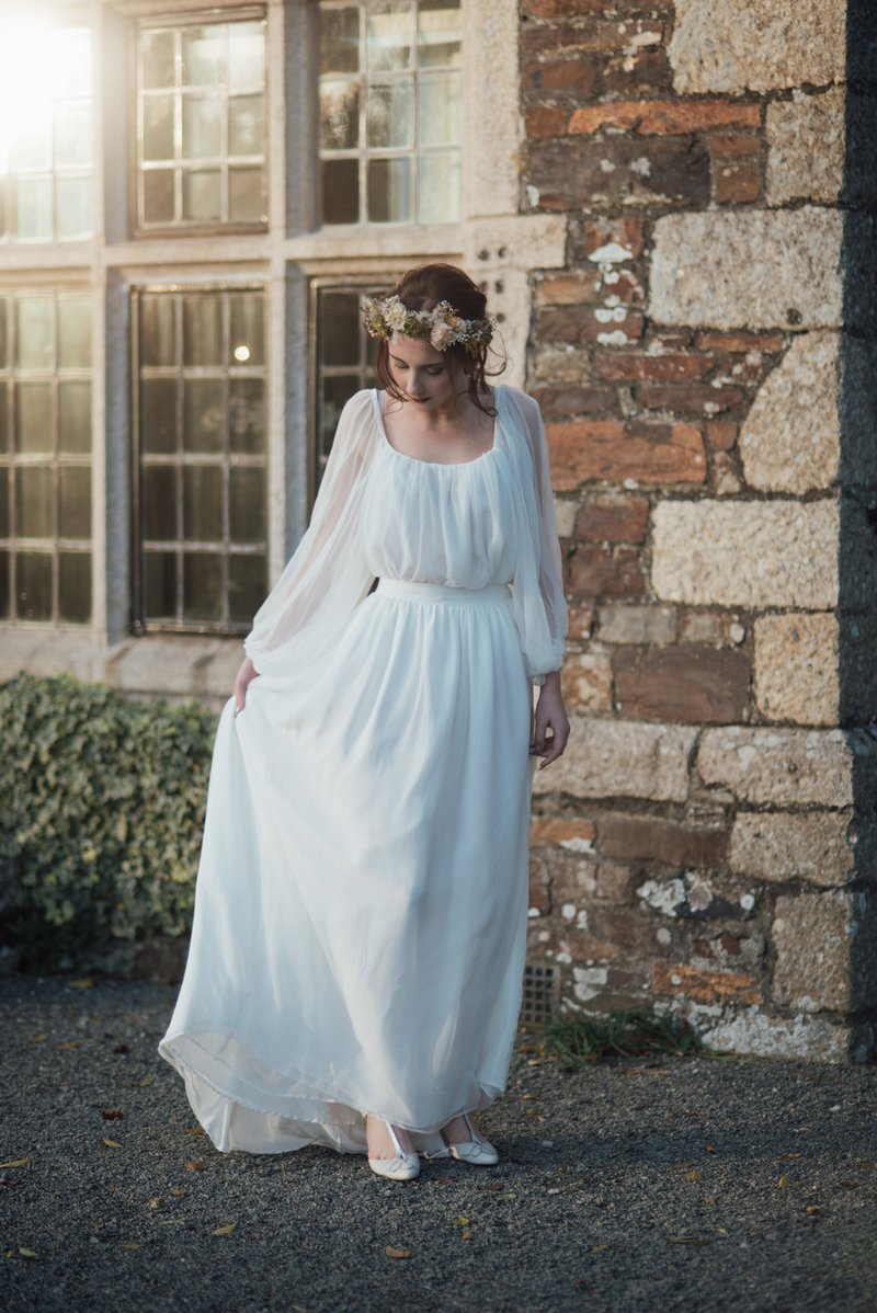 Bride wearing Ailsa Munro wedding dress