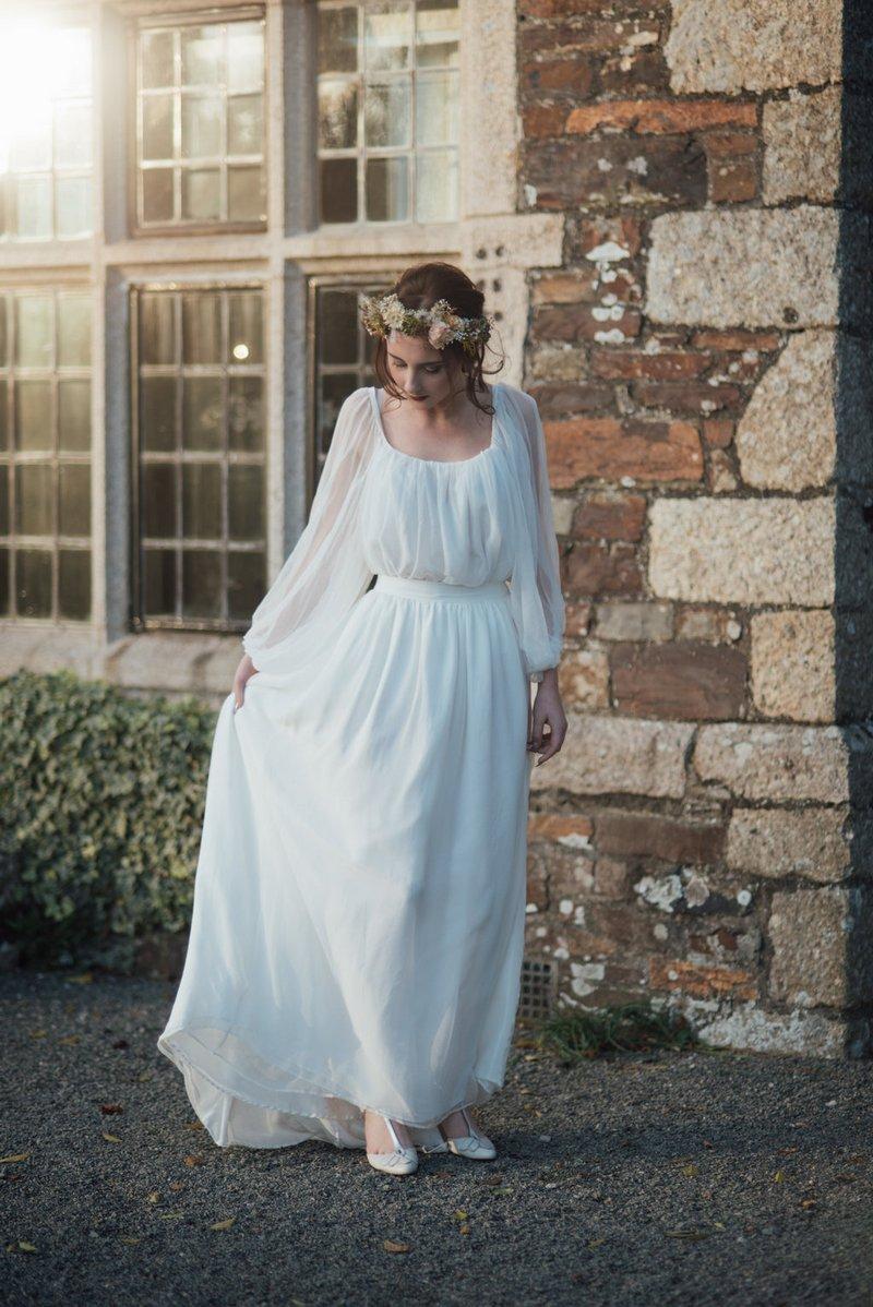 Bride wearing Ailsa Munro wedding dress