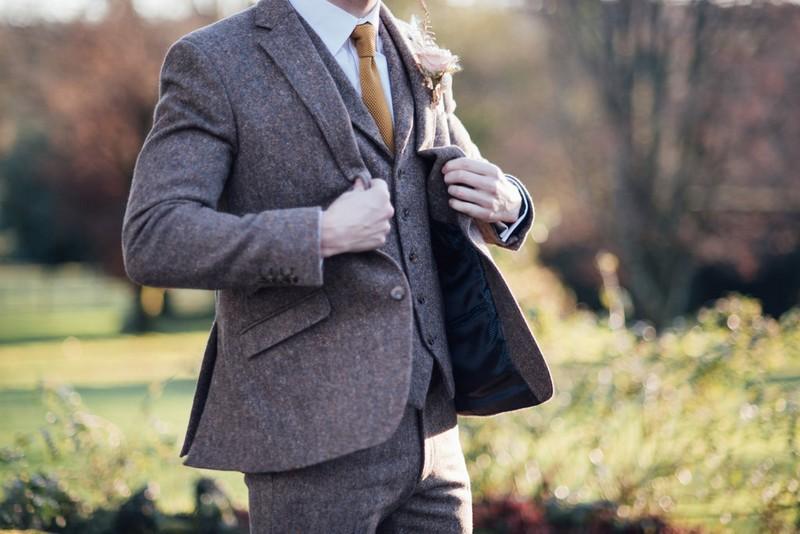 Groom's tweed jacket