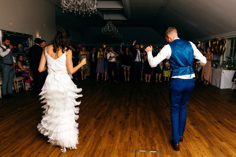 Bride and groom first dance at Barton Hall wedding