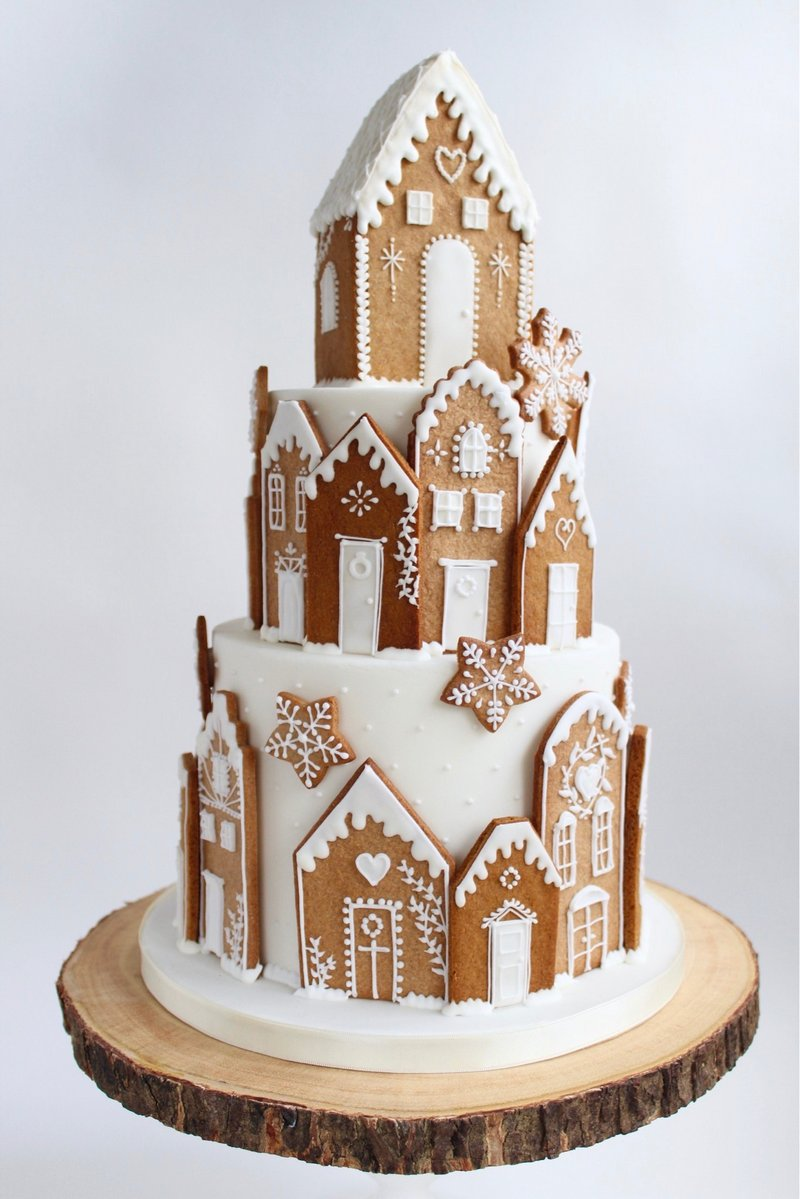 Gingerbread House Christmas Wedding Cake