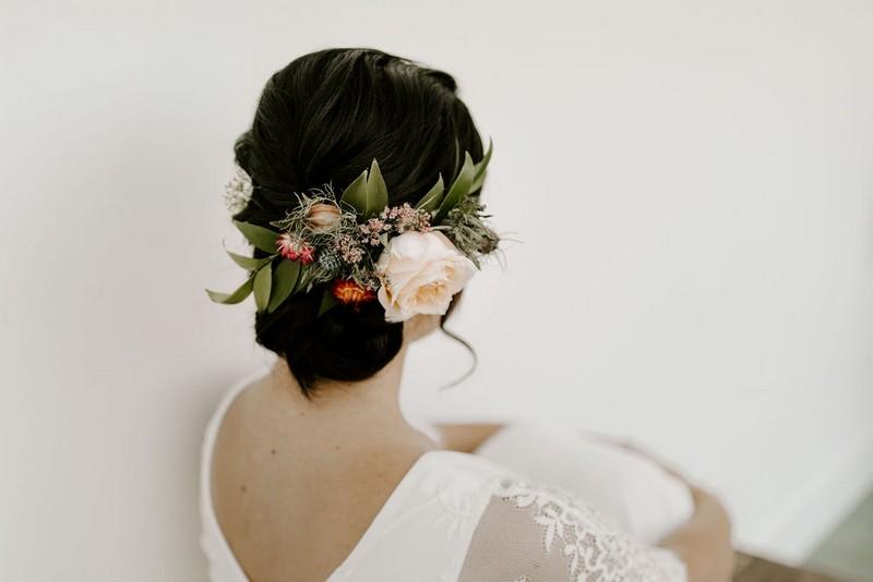 Bride's hair flowers