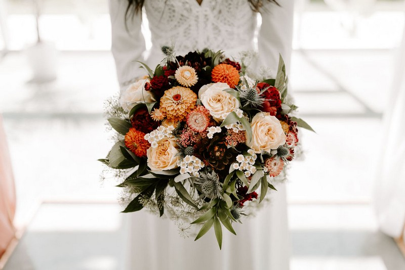 Bride's winter wedding bouquet