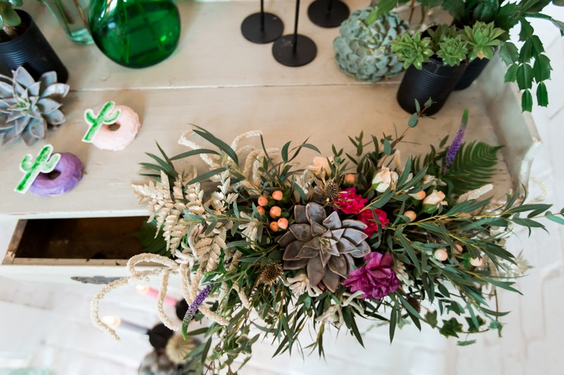 Bridal bouquet in drawer of dresser