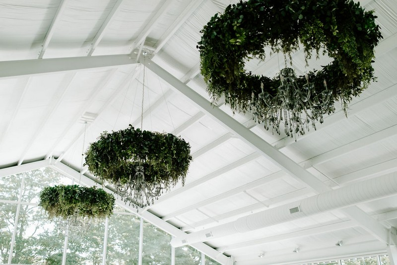 Hanging foliage installations