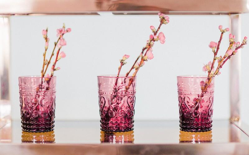 Dark pink glasses