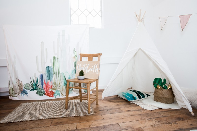 Tipi in children's wedding play area