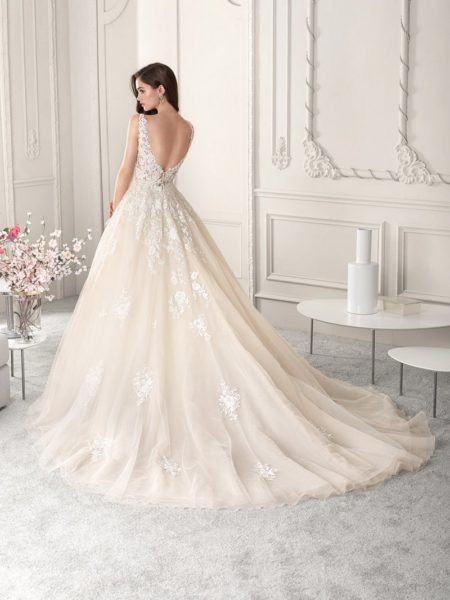 Back of 813 Wedding Dress from the Demetrios Starlight 2019 Bridal Collection