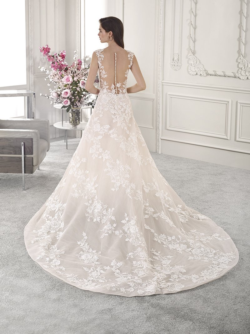 Back of 815 Wedding Dress from the Demetrios Starlight 2019 Bridal Collection