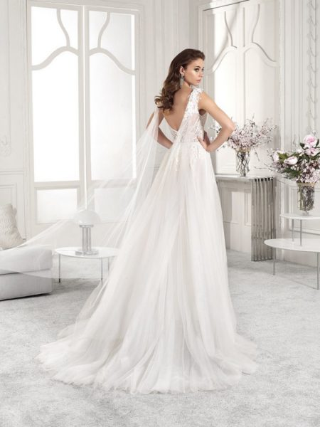 Back of 817 Wedding Dress from the Demetrios Starlight 2019 Bridal Collection