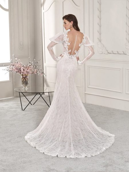 Back of 818 Wedding Dress from the Demetrios Starlight 2019 Bridal Collection