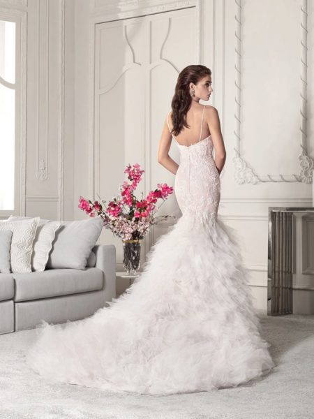 Back of 820 Wedding Dress from the Demetrios Starlight 2019 Bridal Collection