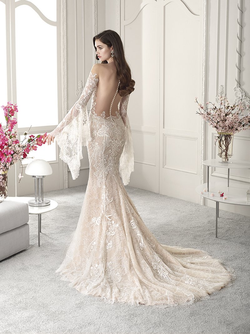 Back of 823 Wedding Dress from the Demetrios Starlight 2019 Bridal Collection