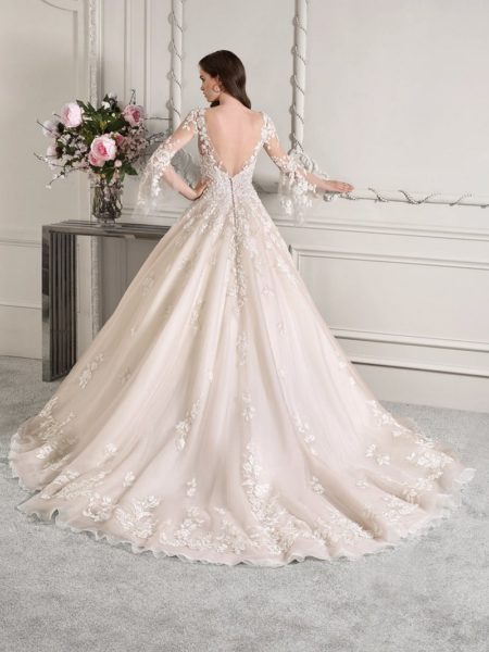 Back of 824 Wedding Dress from the Demetrios Starlight 2019 Bridal Collection