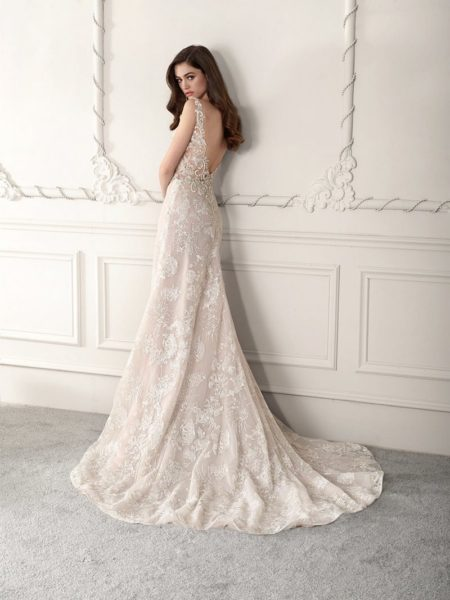 Back of 825 Wedding Dress from the Demetrios Starlight 2019 Bridal Collection