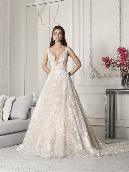 828 Wedding Dress from the Demetrios Starlight 2019 Bridal Collection