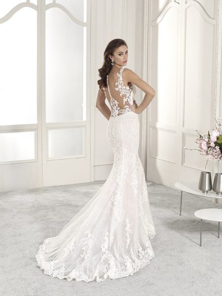Back of 831 Wedding Dress from the Demetrios Starlight 2019 Bridal Collection