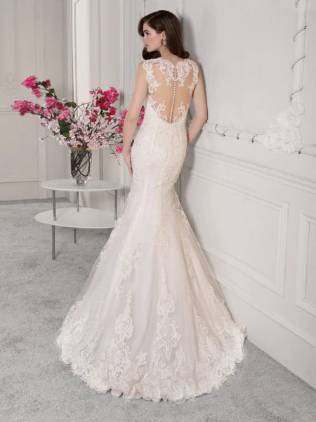 Back of 833 Wedding Dress from the Demetrios Starlight 2019 Bridal Collection