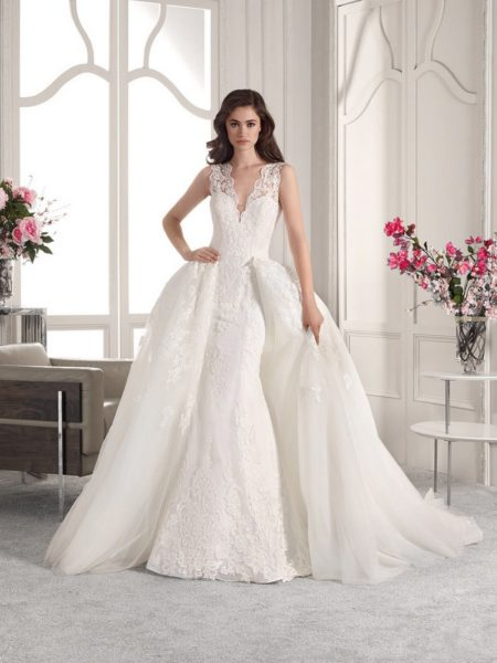 833 Wedding Dress with Train from the Demetrios Starlight 2019 Bridal Collection