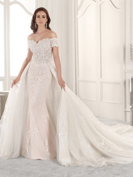 837 Wedding Dress with Train from the Demetrios Starlight 2019 Bridal Collection