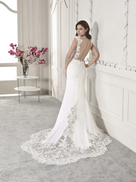 Back of 838 Wedding Dress from the Demetrios Starlight 2019 Bridal Collection