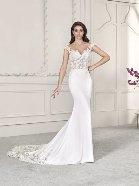 838 Wedding Dress from the Demetrios Starlight 2019 Bridal Collection
