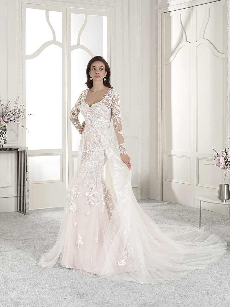 839 Wedding Dress with Cape from the Demetrios Starlight 2019 Bridal Collection