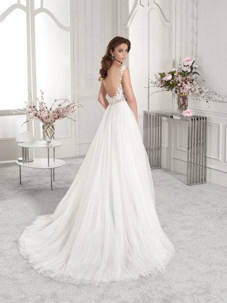 Back of 840 Wedding Dress from the Demetrios Starlight 2019 Bridal Collection