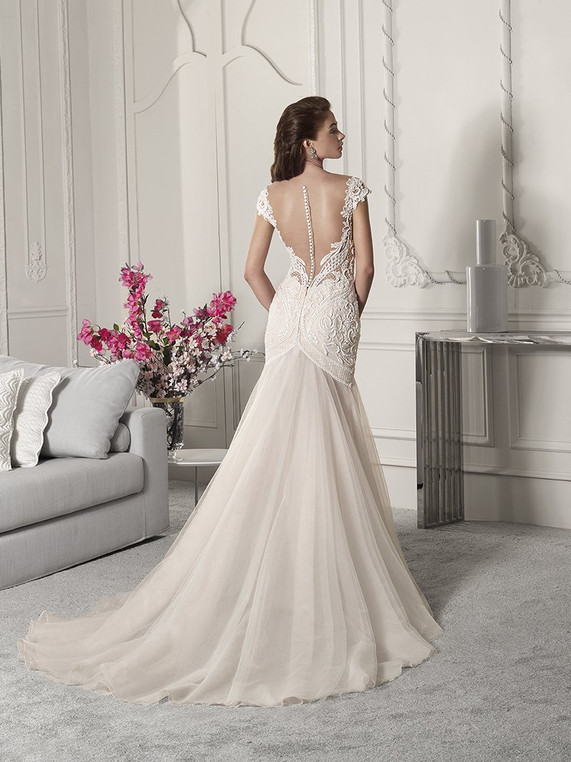 Back of 846 Wedding Dress from the Demetrios Starlight 2019 Bridal Collection