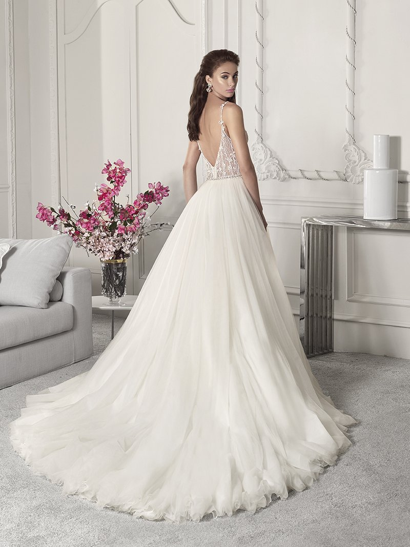 Back of 848 Wedding Dress from the Demetrios Starlight 2019 Bridal Collection
