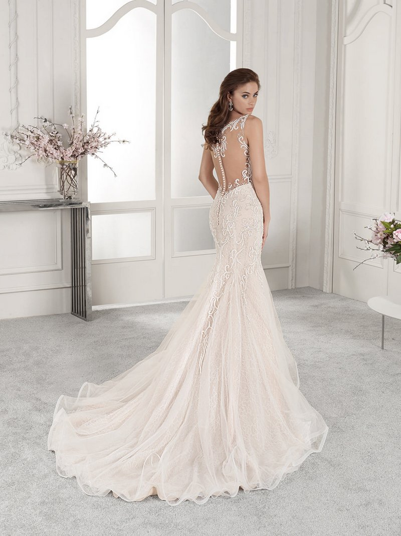 Back of 850 Wedding Dress from the Demetrios Starlight 2019 Bridal Collection